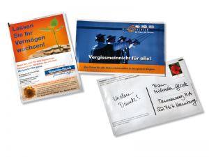 Saatpostkarten im Format 101,6 x150 mm
