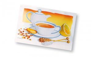 Teepostkarte aus der Edition Country Garden