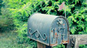 Nostalgischer amerikanischer Briefkasten