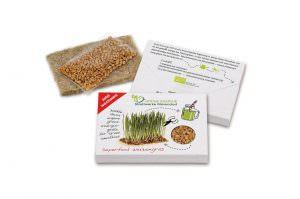 Superfood Weizengras mit Verpackung